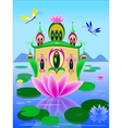 lily house vector image
