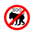 Mandrill in zoo prohibited vector image vector image