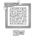 maze what is proverb iq black vector image vector image