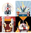 Musical instruments flat set vector image vector image