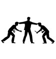 office conflict silhouette vector image vector image