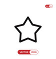 outline star icon isolated on white background vector image vector image
