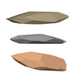 polygonal stone isolated on white background 3d vector image vector image