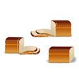 realistic bread bakery sliced fresh wheat vector image