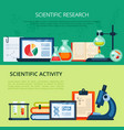 scientific research chemical vector image vector image