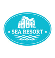 Seaside real estate logo template vector image vector image