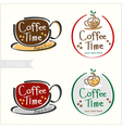 Set of hand drawn style coffee badge label vector image vector image