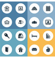 set of simple property icons elements structure vector image vector image