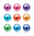 set shiny pearls vector image vector image