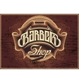sign for a barber shop vector image vector image