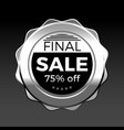 silver final sale premium badge design element vector image vector image