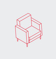 simple isometric furniture icon vector image