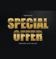 special offer upto 50 percent off discount vector image
