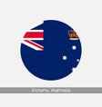 victoria australia round circle flag vector image