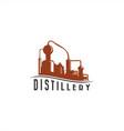 vintage distillery machine logo vector image vector image