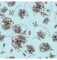 Vintage monochrome watercolor seamless pattern vector image vector image