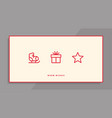 winter holidays greeting card with line icons vector image vector image