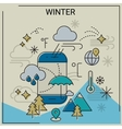 Winter line banners vector image vector image