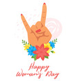 womans day greeting card vector image