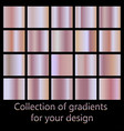 collection of pink gradients rose gold gradient vector image