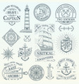 set of vintage nautical labels vector image