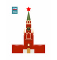Tower of Moscow Kremlin Sight Of Russia vector image