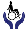disabled invalid care sign protection sign vector image