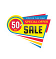 50 off discount - creative banner vector image vector image