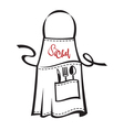 apron vector image vector image
