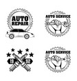 automotive industry card vector image vector image