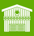 barn for animals icon green vector image vector image