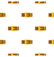 belt with yellow square buckle pattern flat vector image vector image