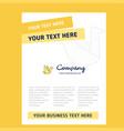 bird title page design for company profile annual vector image