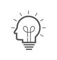 brain idea icon idea and imagination simple liner vector image