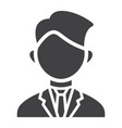 businessman solid icon business and person vector image vector image