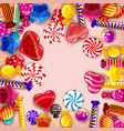 candy background set of different colors of candy vector image vector image