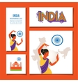 cards set designs and brochures india vector image