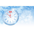 christmas and new year clock vector image vector image