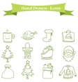 Collection of icon Christmas set vector image vector image