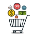 commerce icons design vector image