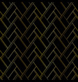 dark luxury seamless pattern with golden thread vector image vector image