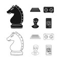 design of checkmate and thin symbol vector image vector image