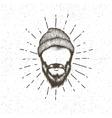Face of lumberjack vector image