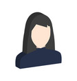 female avatar symbol flat isometric icon or logo vector image vector image