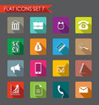 financial and business icons vector image vector image