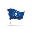 flag with euro symbol vector image vector image