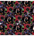 floral vintage seamless pattern colorful vector image