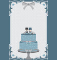 gay wedding cake vector image vector image
