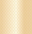 Geometric gold pattern background vector image