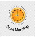 good morning banner with orange transparent vector image vector image